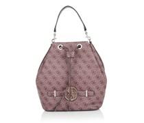 Guess Tasche - Katlin Drawstring Bucket Bag Claret - in pink - Umhängetasche für Damen
