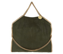 Falabella Shaggy Deer Small Tote Olive gold