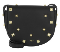 Studded Smooth Caley Messenger Small Black/Gold