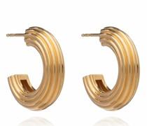 Ohrringe Chunky Ridged Gold Hoop Earrings