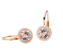 Ohrringe Earrings Espressivo Morganite Faceted Rosegold