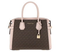 Tote Mercer Belted Medium Satchel Bag Brown Soft Pink