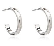 Ohrringe Star Studded Medium Hoops Silver