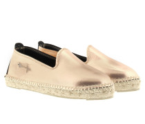 Los Angeles Laminated Leather Espadrilles Light Rose