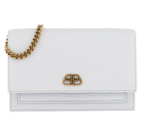 Umhängetasche Sharp Clutch With Pocket On Chain Leather White