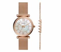 Uhr Carlie Three-Hand Mesh Watch and Bracelet Set