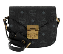 Patricia Visetos Shoulder Bag Mini Black gold