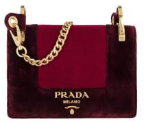 Velvet Shoulder Bag Ribes+Amarena pink