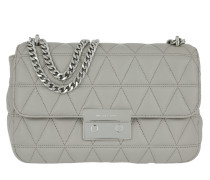 Sloan LG Silver Chain Shoulder Bag Pearl Grey