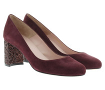 Pumps - Suede Block Pumps Bordo/Mineral 1