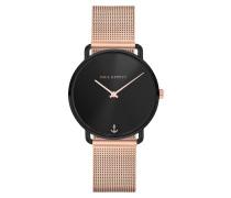 Uhr Watch Miss Ocean Line Sunray Mesh Strap Rosegold/Black