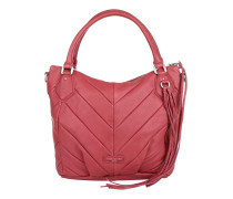 Gina Vintage Water Snake Kiss Red Tote rot