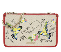 Je t'aime Clutch Rosso Umhängetasche beige