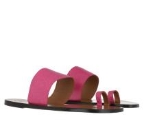 Schuhe Astrid Printed Watersnake Sandals Fuxia