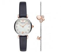 Uhr Gianni T-Bar Watch Dark Blue Bracelet Set