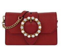 Bejeweled Buckle Belt Bag Fuoco Umhängetasche