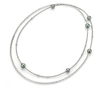 Halskette Collier Moonstone Tahiti Pearls