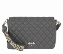 Borsa Nappa Pu Wide Handle Bag Grigio