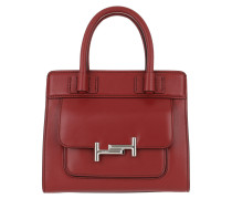 Mini Double T-Bag Red Tote