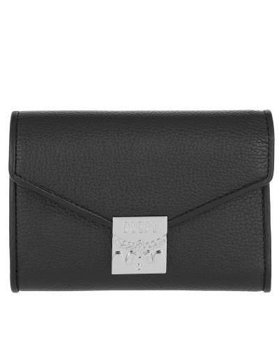 Portemonnaie Patricia Park Avenue Flap Wallet Tri-Fold Small Black schwarz
