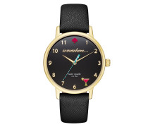 5 O`Clock Somewhere Metro Watch Gold/Black Armbanduhr