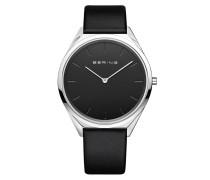 Uhr Watch Ultra Slim Uni Schwarz
