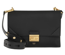Umhängetasche Kan U Medium Top Handle Bag Leather Black