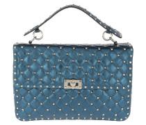 Rockstud Spike Medium Shoulder Bag Blue
