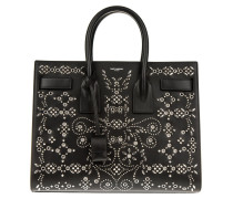 Tasche - Sac Du Jour Fleur Small Embellished Calf Leather Tote Black