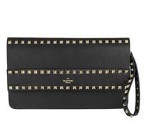 Pochette Rockstud Clutch Leather Black