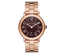 Ladies Riley Stainless Steel Watch Rosegold Tote gold