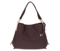 Tote Polished Pebble Leather Dalton Shoulder Bag Red