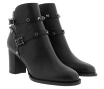 Rockstud Ankle Bootie Calf Nero Schuhe