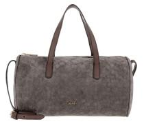 Melisa Medium Velluto Stampa Shoulder Bag Dark Grey
