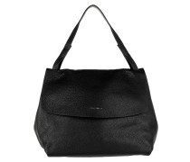 Delphine Flap Over Shopping Bag Noir/Gerbera Umhängetasche