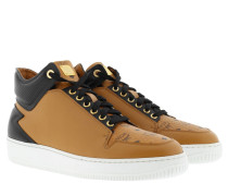 Men´s Hightop Logo Sneaker Black/Cognac