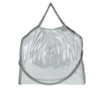 Faux Fold Over Tote Bag Silver