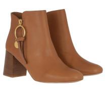Boots Bootie Leather Cognac