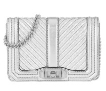 Chevron Quilted Small Love Silver