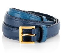 Kleinleder - Slim Saffiano Belt Cobalt Blue