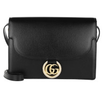 Umhängetasche GG Ring Shoulder Bag Leather Black