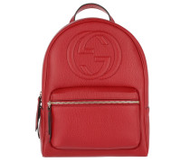 Soho Backpack Grained Hibiscus Red Rucksack rot
