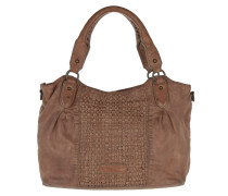 Dominique Woven Sheep Shoulder Bag Stone Tote braun