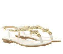 Holly Rope Trim Sandal Optic White Sandalen