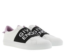 Sneakers Urban Street With Webbing Leather White