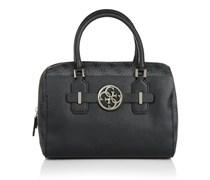 Guess Tasche - Katlin Box Satchel Coal/Multi - in schwarz - Henkeltasche für Damen