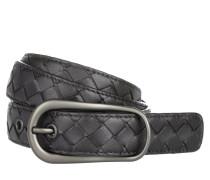 Kleinleder - Intrecciato Nappa Leather Belt Nero