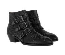 Susanna Studded Gunmetal Boots Metallized Goatskin Black Schuhe blau|Susanna Studded Gunmetal Boots Metallized Goatskin Black Schuhe schwarz