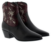 Rock 40 Cowboy Bootie Carved Black/Burgundy Schuhe