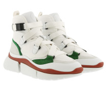 Sneakers Sonnie High Top Suede Calfskin Jungle Green